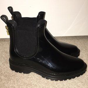 michael kors tipton rain boots black